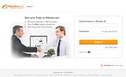 Preview of login.alibaba.com